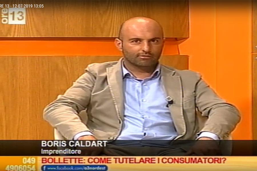 BORIS CALDART OSPITE AL PROGRAMMA TELEVISIVO ORE13 SU ANTENNA3