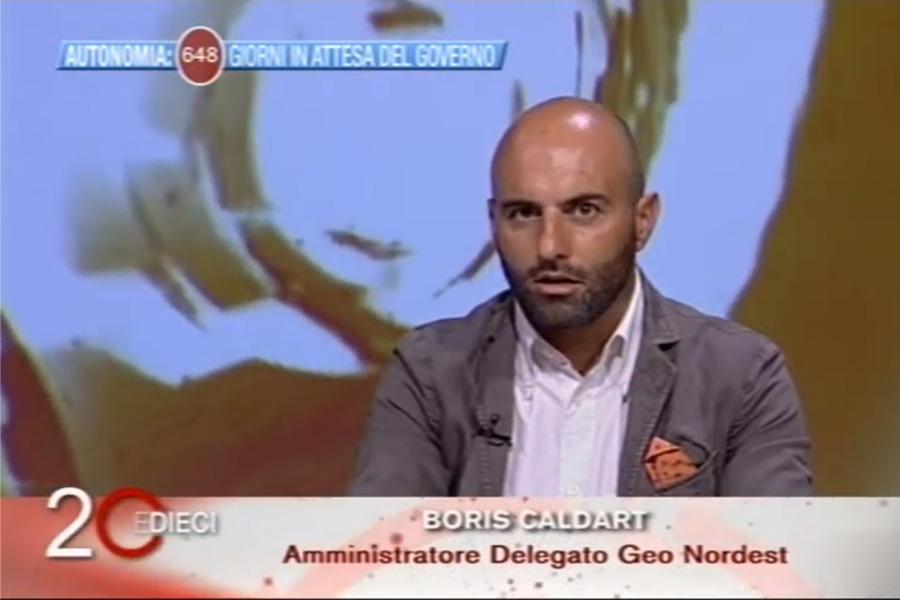 """L'AD di Geo Nord-Est, Boris Caldart, alla trasmissione tv """"20 e dieci"""" su Antenna3"""