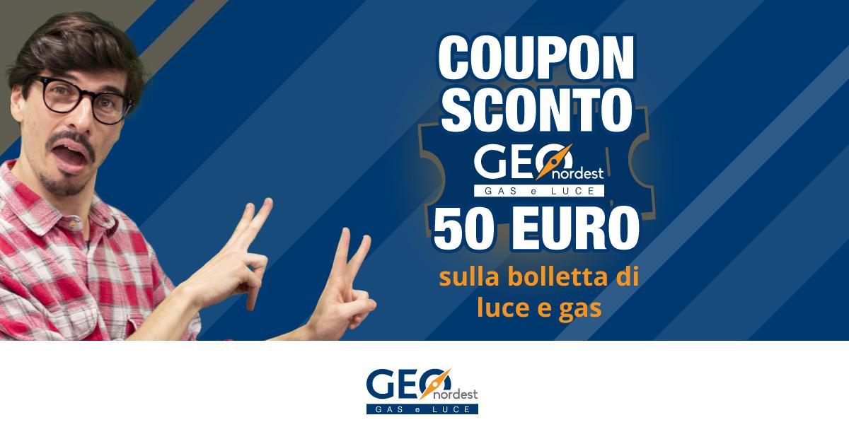 BUONO SCONTO DA 50 EURO SULLA NUOVA FORNITURA DI LUCE E GAS